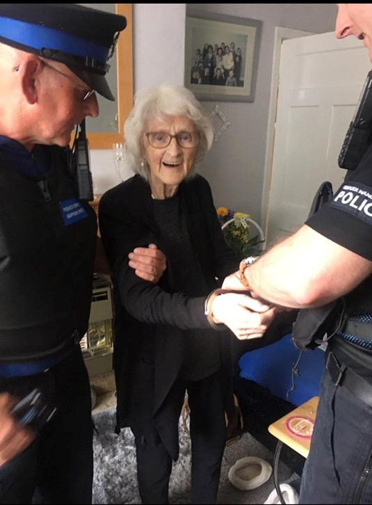 "A 93-year-old lady wanted to be arrested for something ""before its too late"""