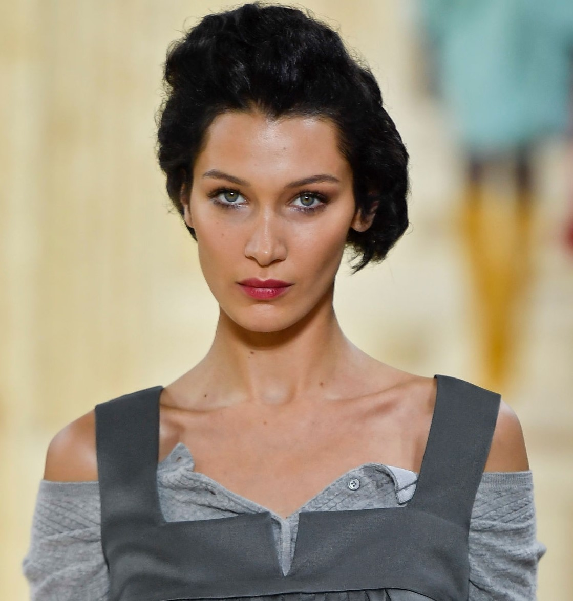Bella Hadid's features closely matching the ideal ratio, according to science