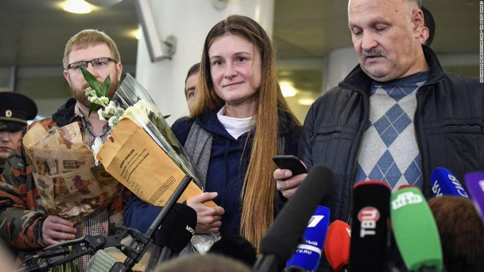 Maria Butina, Russian spy in US reached home after being in Prison for 15 months