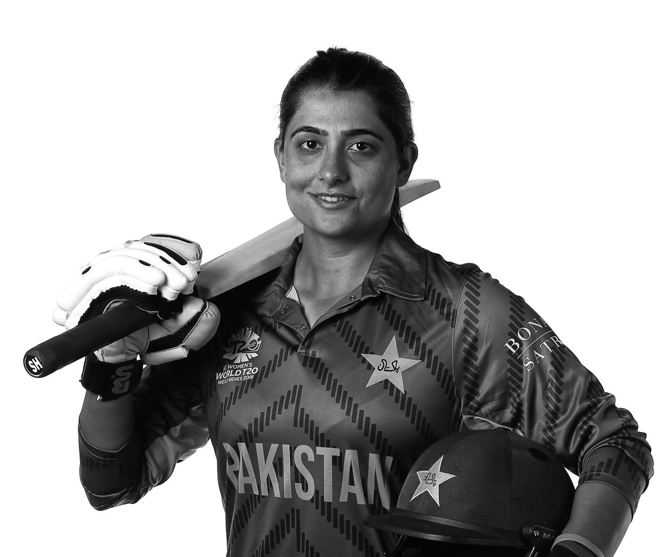 Pakistani cricketer Sana Mir confer with Asia Society Game Changer award