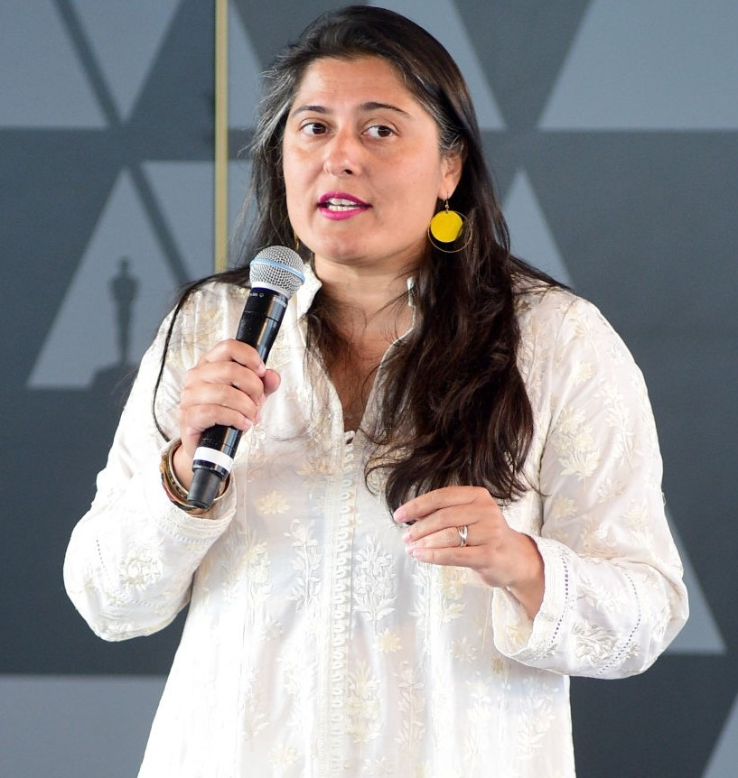 Filmmaker Shermeen Obaid Chinoy expresses her views at the Academy's Women Initiative New York