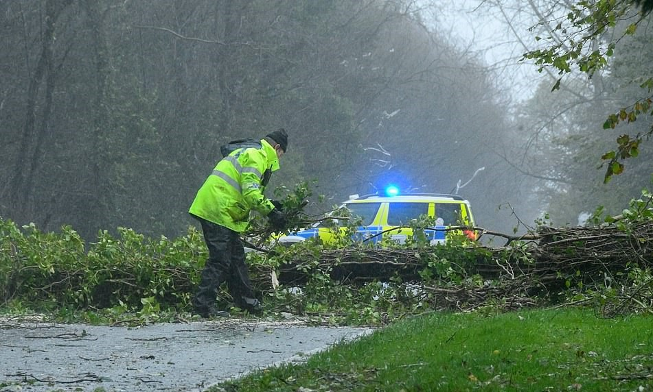 Severe Windstorm in the UK killed a lady