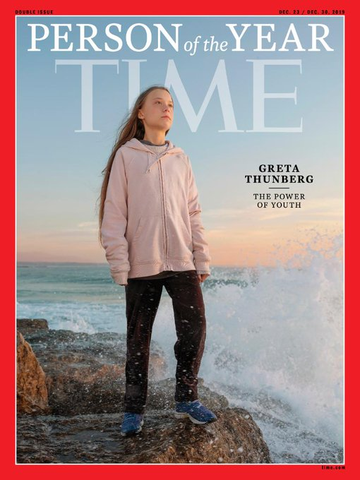 Greta Thunberg is the youngest Time's person of the year 2019