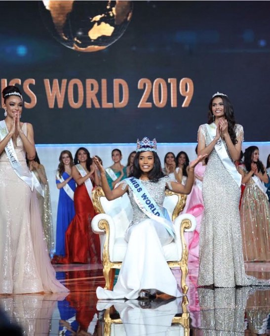 Miss Jamaica is crowned the Miss World 2019