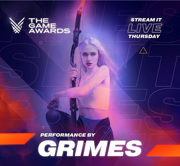 Grimes received a surprise appearance from boyfriend Elon Musk