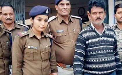 A woman cop arrests a wanted dacoit by proposing him