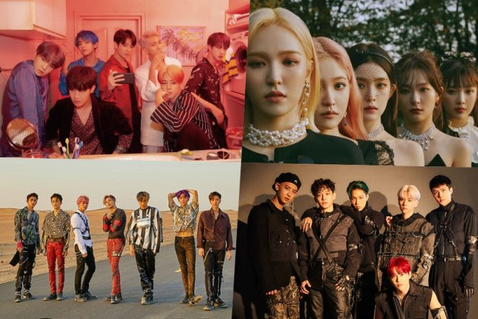 Red Velvet, Super M, EXO, and BTS rank high on billboard charts