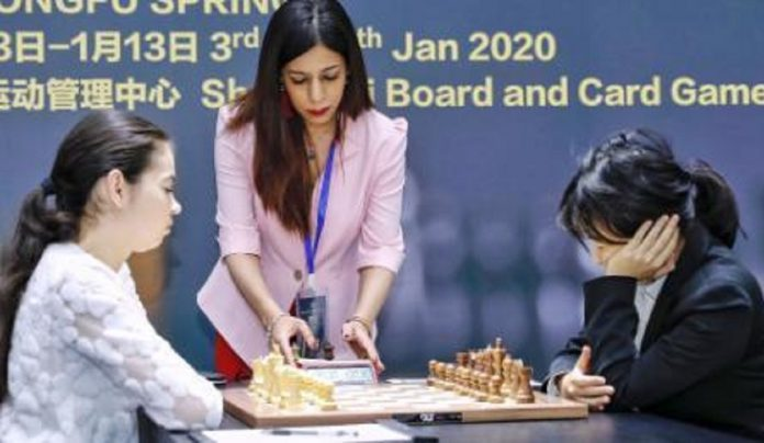 Iranian chess referee frightened to return home after headscarf controversary