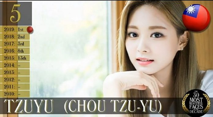 Tzuyu ranks #5 on TC Candler's Top 30 Most Beautiful Faces of the Decade