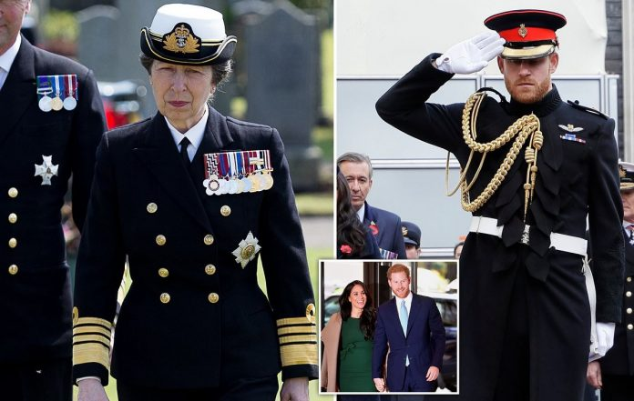 Princess Anne makes royal history by taking over Prince Harry's military role in the Royal Marines