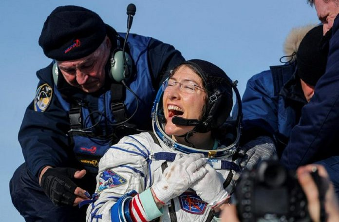 Astronaut Christina Koch returns to earth after staying 328 days in space