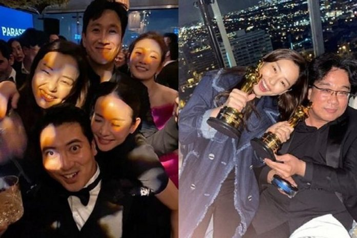Honey Lee apologize and delete congratulatory picture of Parasite Oscar Party