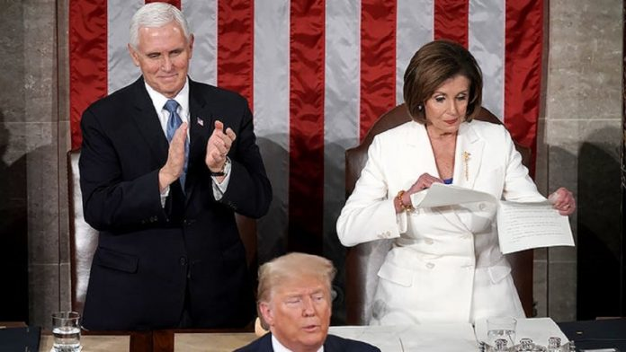 Nancy Pelosi tore up a copy of President Donald Trump SOTU Speech