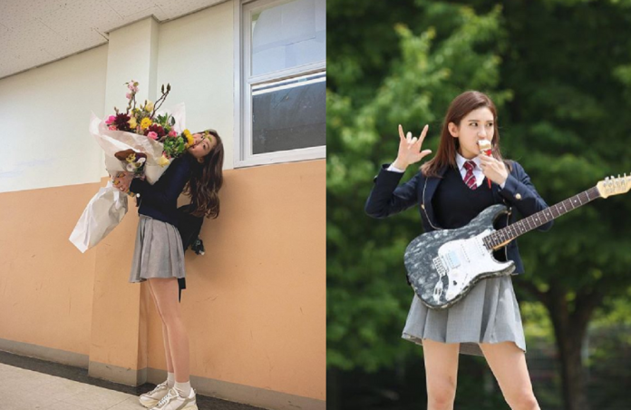 Jeon Somi gifted fans with a look at her graduation photos