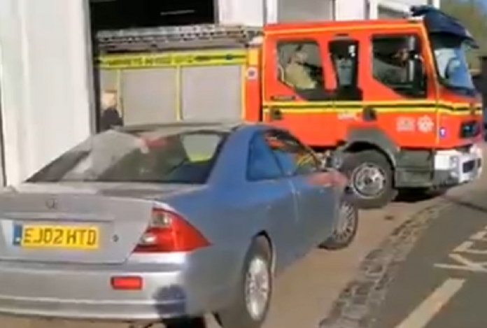Woman Allegedly Block In Fire Station Entrance Amid Coronavirus Crises