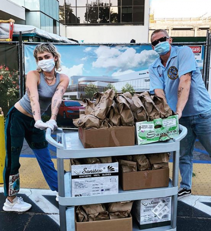 Miley Cyrus And Cody Simpson Surprises Healthcare Workers With Free Tacos