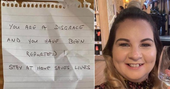 NHS Nurse Find A Note Calling Her A Disgrace After Completing 12 Hours Shift
