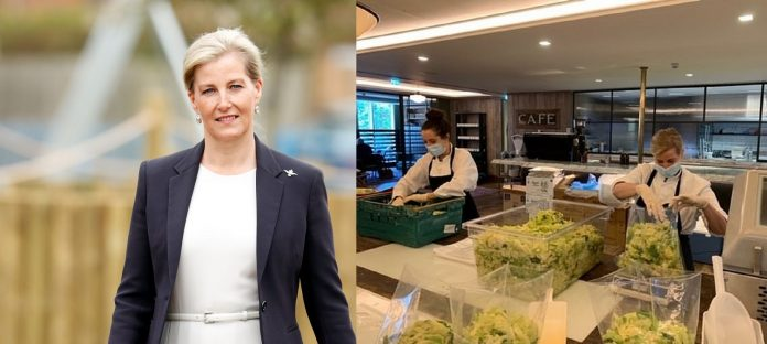 Countess Of Wessex Secretly Helps Professional Chefs Making Lunch For NHS Worker