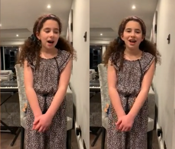 10-Year-Old Girl Sings 'We'll Meet Again' To Thank NHS Staff For Their Work