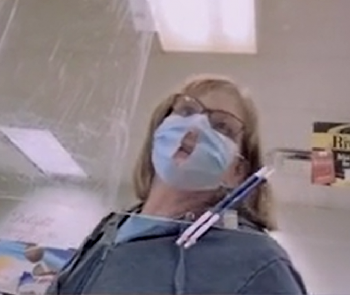 Video Reveals Woman Make Hole In Face Mask As It 'Makes It Easier To Breathe'