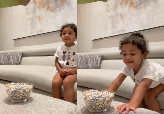 Cute Video Of Stormi Singing While Waiting To Eat Candy Goes Viral